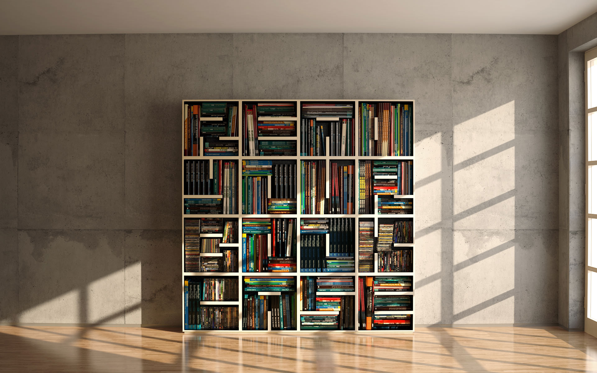 abc bookcase on the hunt